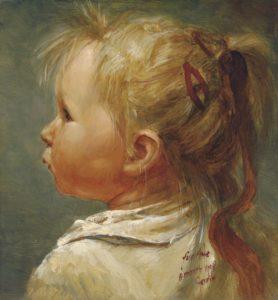 Olieverf portret door Gerrit Breteler van -