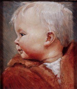 Olieverf portret door Gerrit Breteler van - Anne Goaitske Breteler (1j)