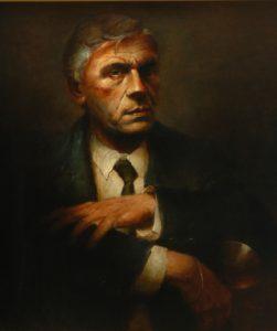 Olieverf portret door Gerrit Breteler van - Olieverf portret door Gerrit Breteler van - Schrijver en dichter, Gerard Kornelis van het Reve