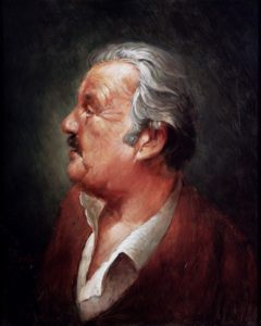 Olieverf portret door Gerrit Breteler van - Vader Hans Breteler