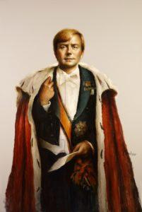 Olieverf portret door Gerrit Breteler van - Koning Willem Alexander