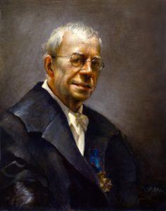 Olieverf portret door Gerrit Breteler van - Prof Drs Serge Daan